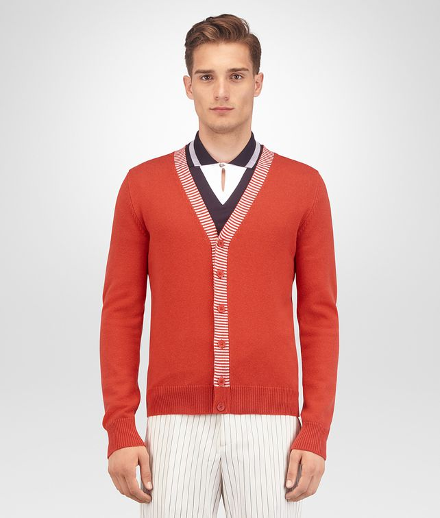 BOTTEGA VENETA TERRACOTTA CASHMERE SWEATER Knitwear Man fp