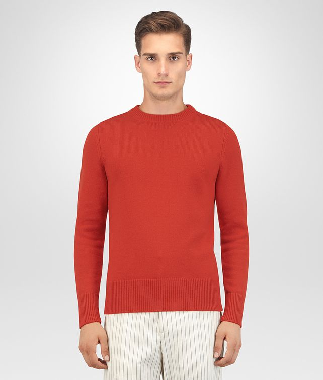BOTTEGA VENETA TERRACOTTA CASHMERE SWEATER Knitwear [*** pickupInStoreShippingNotGuaranteed_info ***] fp