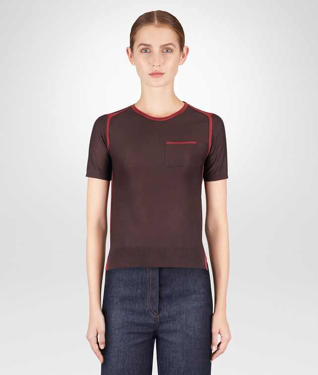 BOTTEGA VENETA DARK BAROLO MERINO TOP Knitwear or Top or Shirt Woman fp