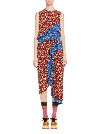 Marni Dress in silk Metropolis print Woman