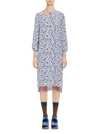 Marni Dress in silk crepe Abbey print Woman