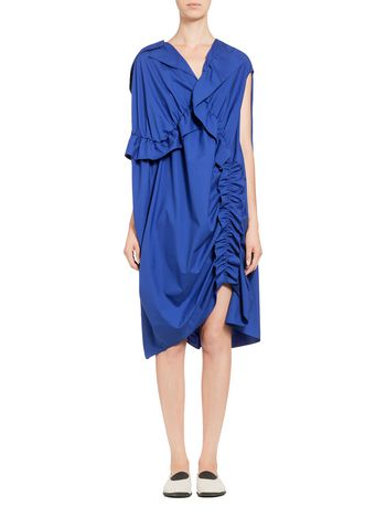 Marni Ruffled dress in cotton poplin Woman