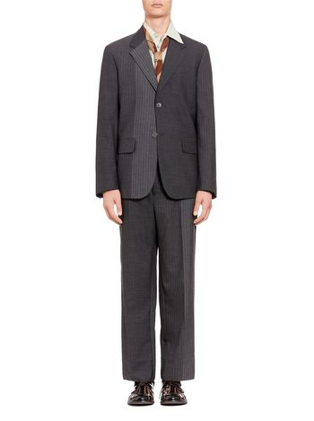 Marni 2-button jacket in pinstriped wool Man