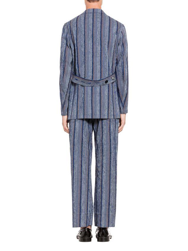 Marni Three-button jacket in striped cotton Man