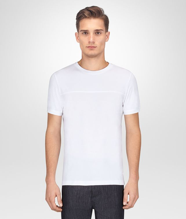 BOTTEGA VENETA BIANCO COTTON T-SHIRT Polo And Tee Man fp