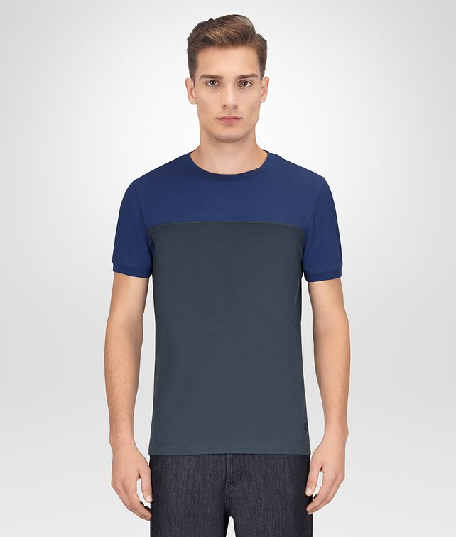 BOTTEGA VENETA COBALT COTTON SHIRT Polo And Tee Man fp