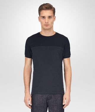 T-SHIRT IN COTONE BLU NAVY SCURO