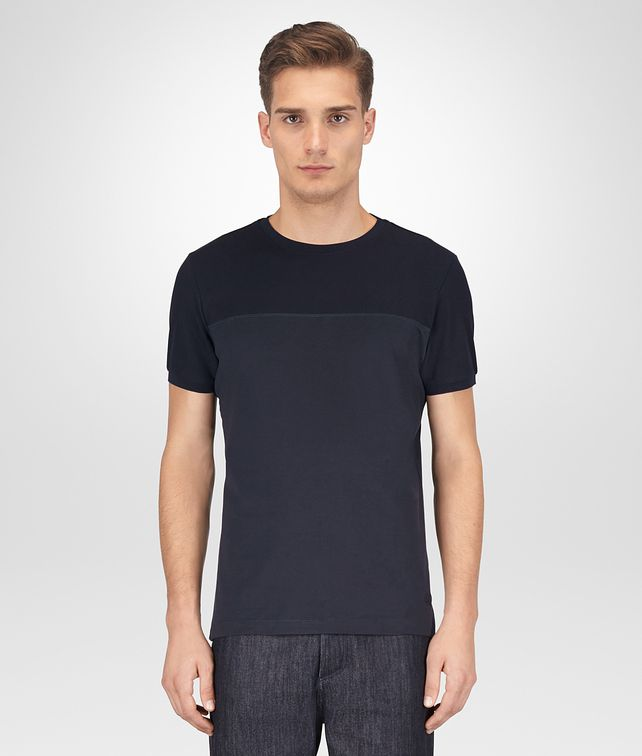 BOTTEGA VENETA DARK NAVY COTTON T-SHIRT Polo And Tee [*** pickupInStoreShippingNotGuaranteed_info ***] fp