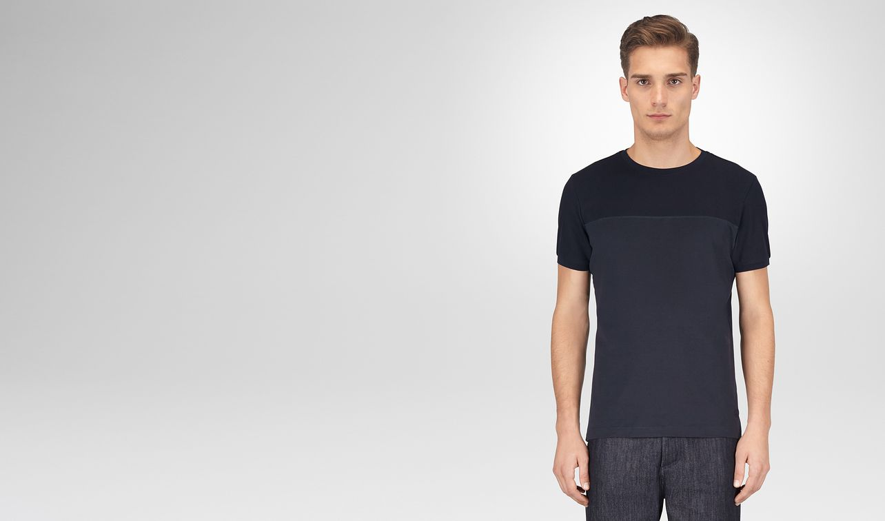 t-shirt in cotone blu navy scuro landing