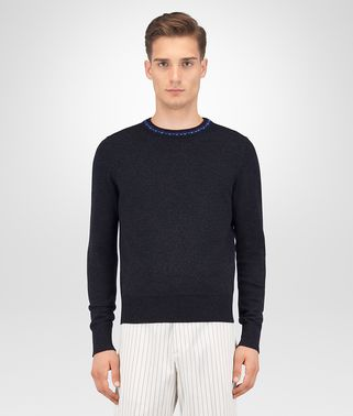 DARK GREY WOOL CASHMERE SWEATER