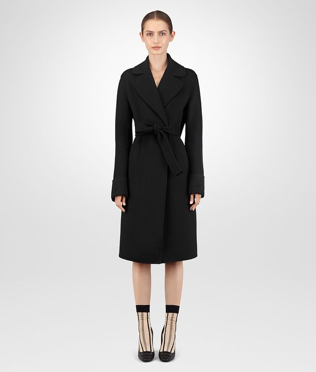 BOTTEGA VENETA NERO DOUBLE CASHMERE COAT Outerwear and Jacket Woman fp