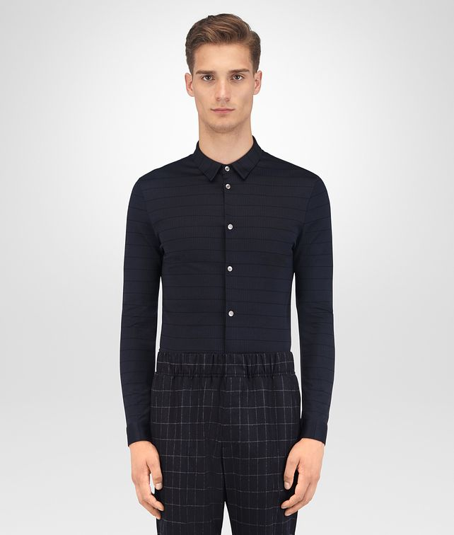 BOTTEGA VENETA DARK NAVY COTTON SHIRT Shirt Man fp