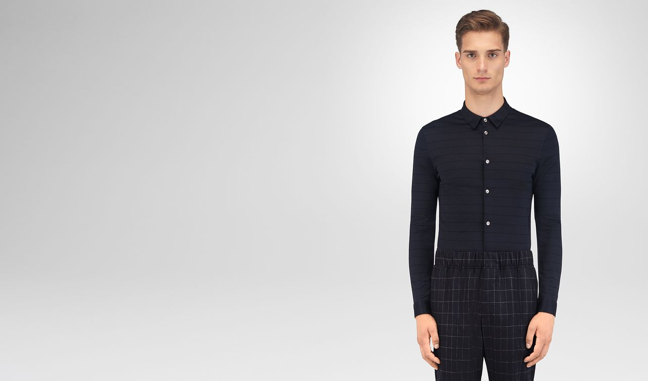 dark navy cotton shirt landing