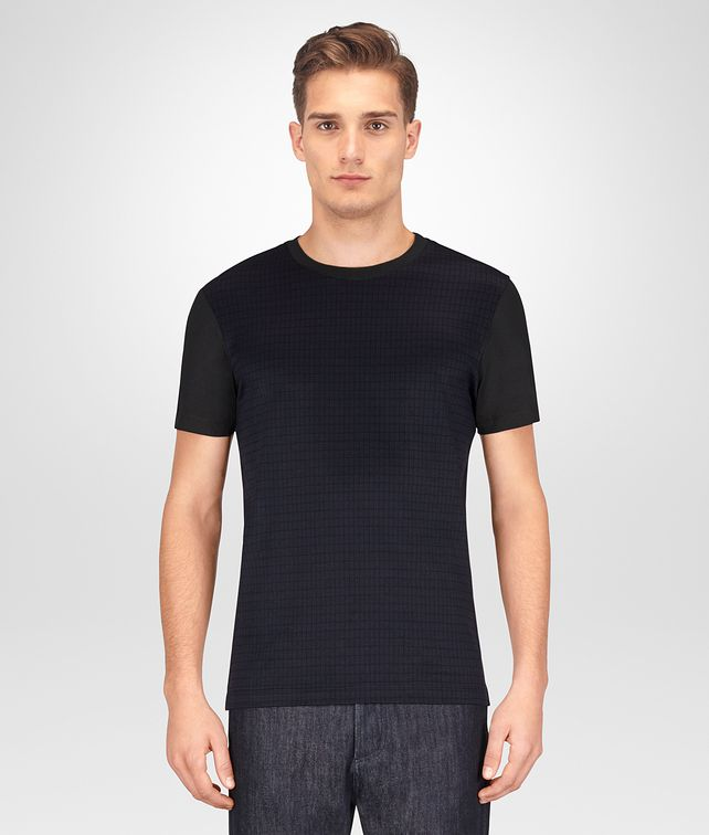 BOTTEGA VENETA DARK NAVY COTTON T-SHIRT Polo And Tee Man fp