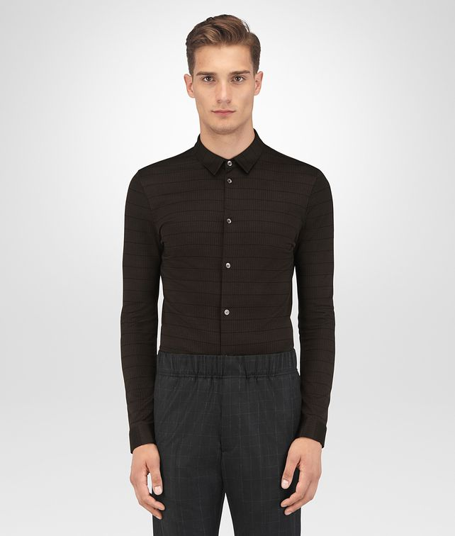 BOTTEGA VENETA ESPRESSO COTTON SHIRT Shirt Man fp