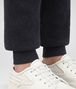 dark navy wool cashmere pant Front Detail Portrait