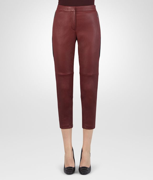 BOTTEGA VENETA GIGOLO RED LAMB PANT Skirt or trouser Woman fp