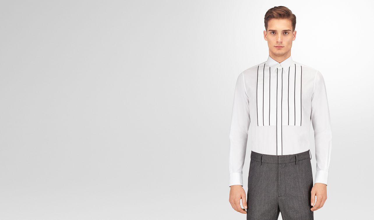 bianco cotton tuxedo shirt landing