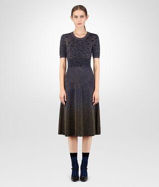 黑色宝蓝色金属丝连衣裙