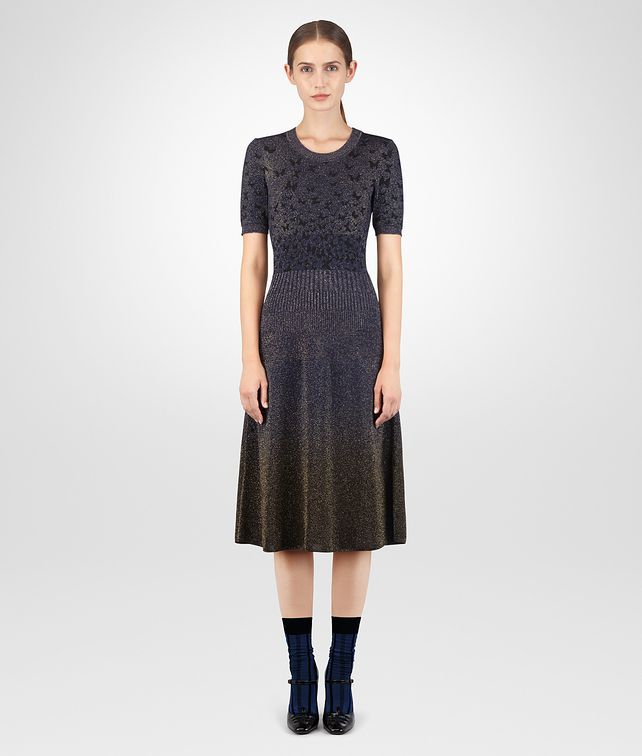 BOTTEGA VENETA DARK COBALT LUREX DRESS Dress [*** pickupInStoreShipping_info ***] fp
