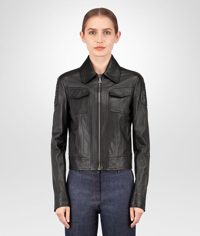BOTTEGA VENETA NERO CALF JACKET Outerwear and Jacket Woman fp