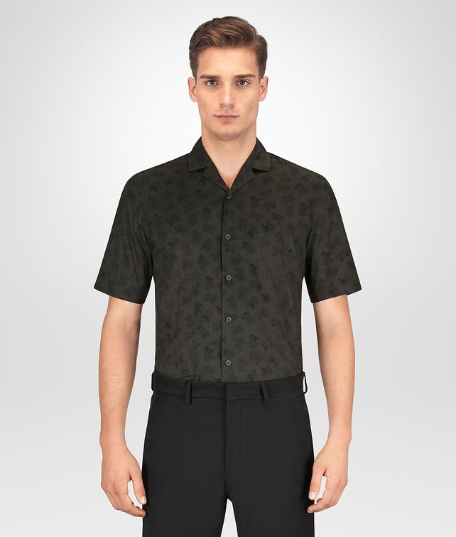 BOTTEGA VENETA MOSS COTTON SHIRT Shirt Man fp
