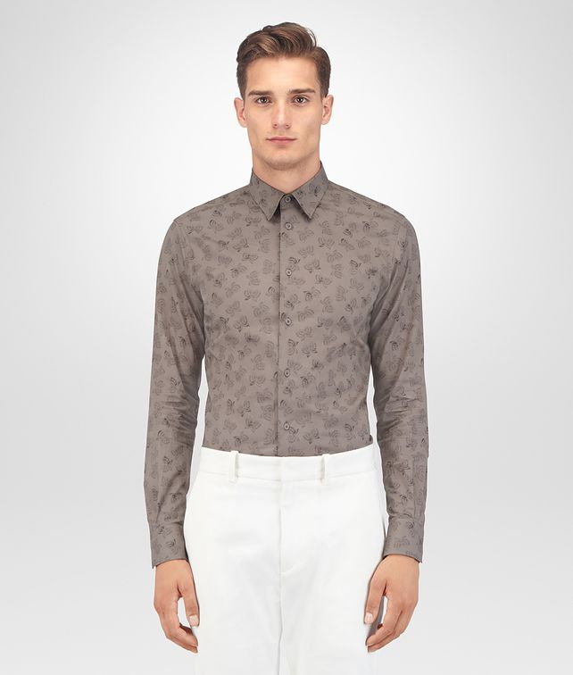 BOTTEGA VENETA STEEL COTTON SHIRT Shirt Man fp