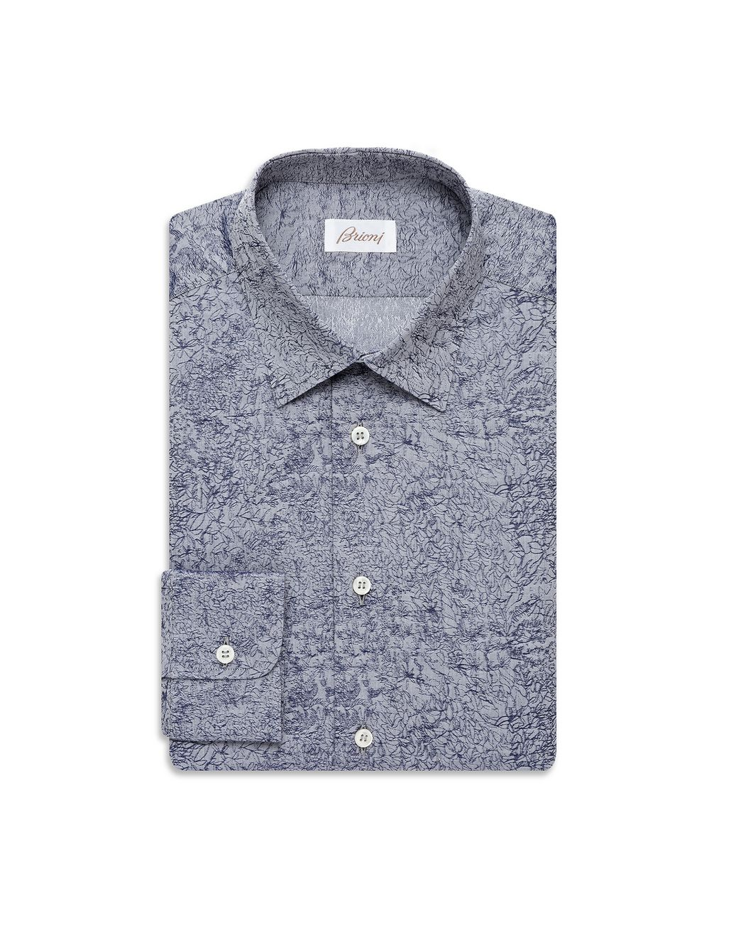 BRIONI Bluette Micro-Designed Shirt Leisure shirt [*** pickupInStoreShippingNotGuaranteed_info ***] f