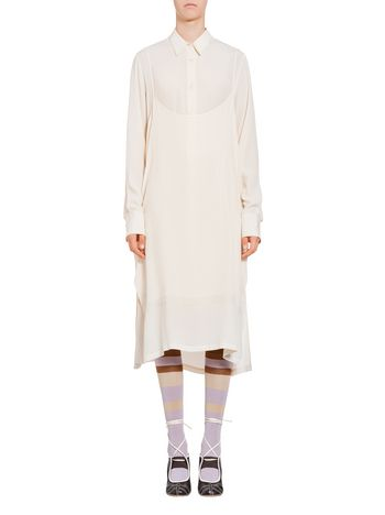 Marni Shirt-dress in washed acetate crepe Woman