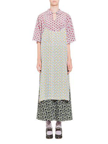 Marni Camisole dress in silk Taos print Woman