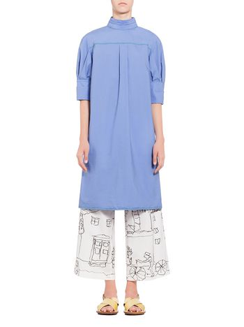 Marni Short-sleeved dress in poplin Woman