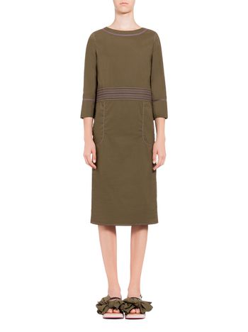 Marni Crew neck dress in poplin Woman