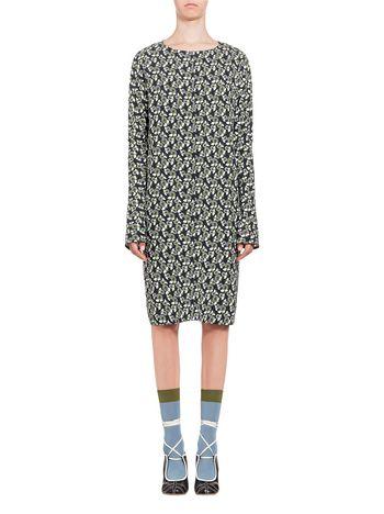Marni Viscose dress Plumeria print Woman