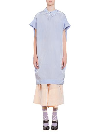 Marni Dress in taffeta with asymmetric collar Woman