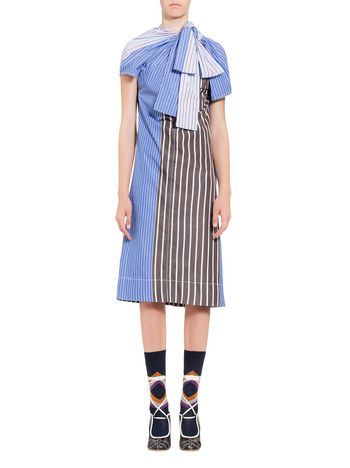 Marni Cotton dress with bow Woman