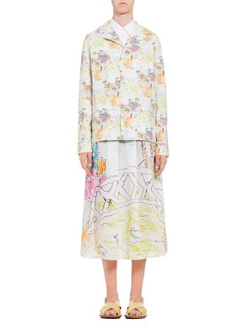 Marni Cotton jacket with print by Maria Magdalena Suarez  Woman