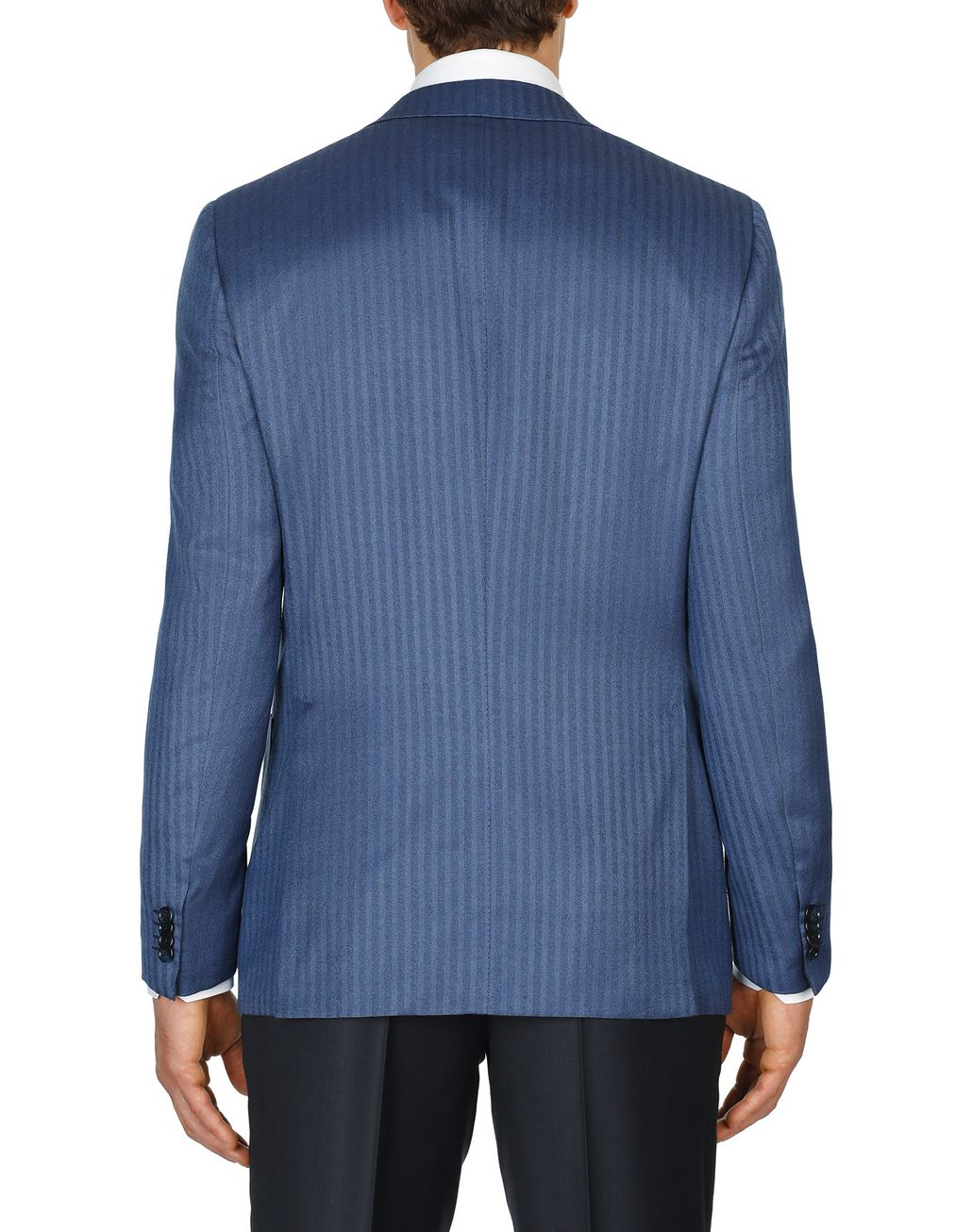 BRIONI Bluette Herringbone Condotti Cashmere Jacket Suits & Jackets Man d