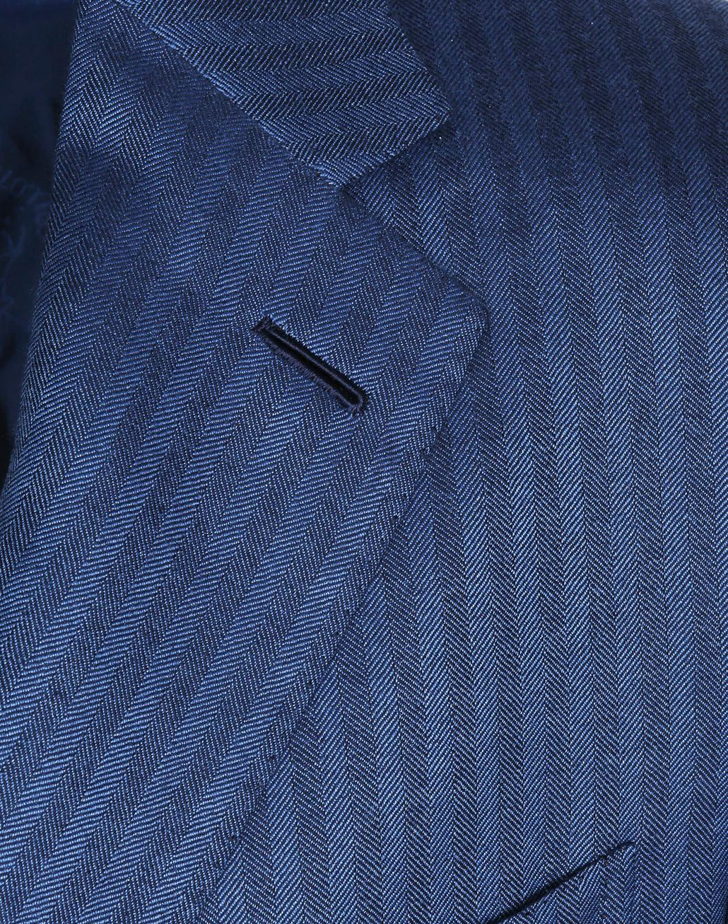 BRIONI Bluette Herringbone Condotti Cashmere Jacket Suits & Jackets Man e