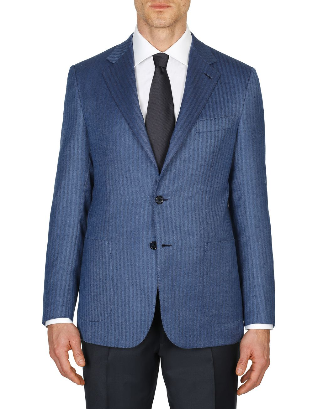 BRIONI Bluette Herringbone Condotti Cashmere Jacket Suits & Jackets Man r