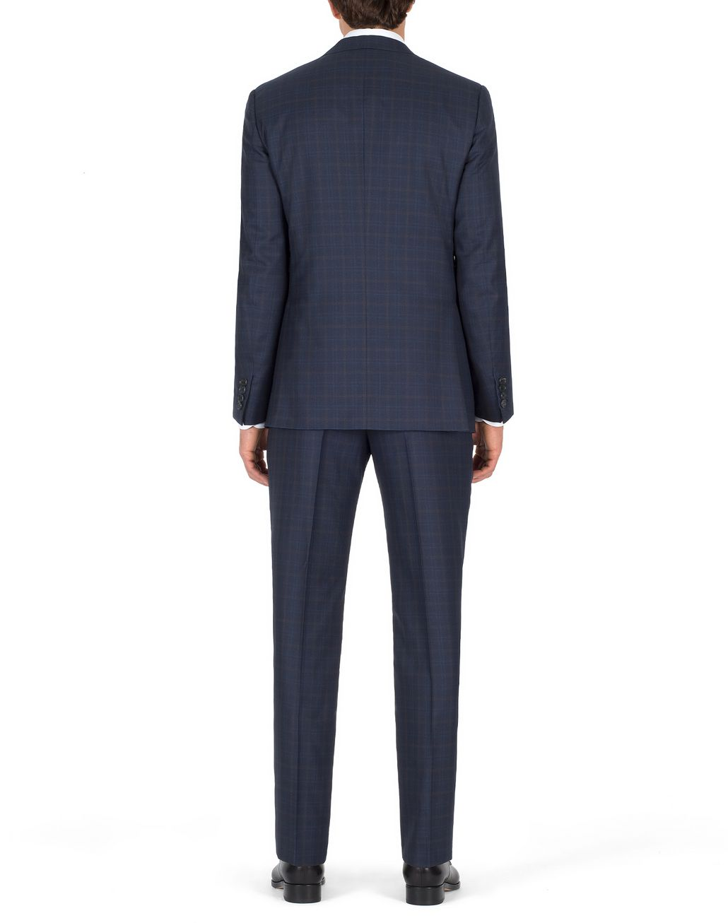 BRIONI Navy-Blue Subtle Check Brunico Suit Suits & Jackets U d