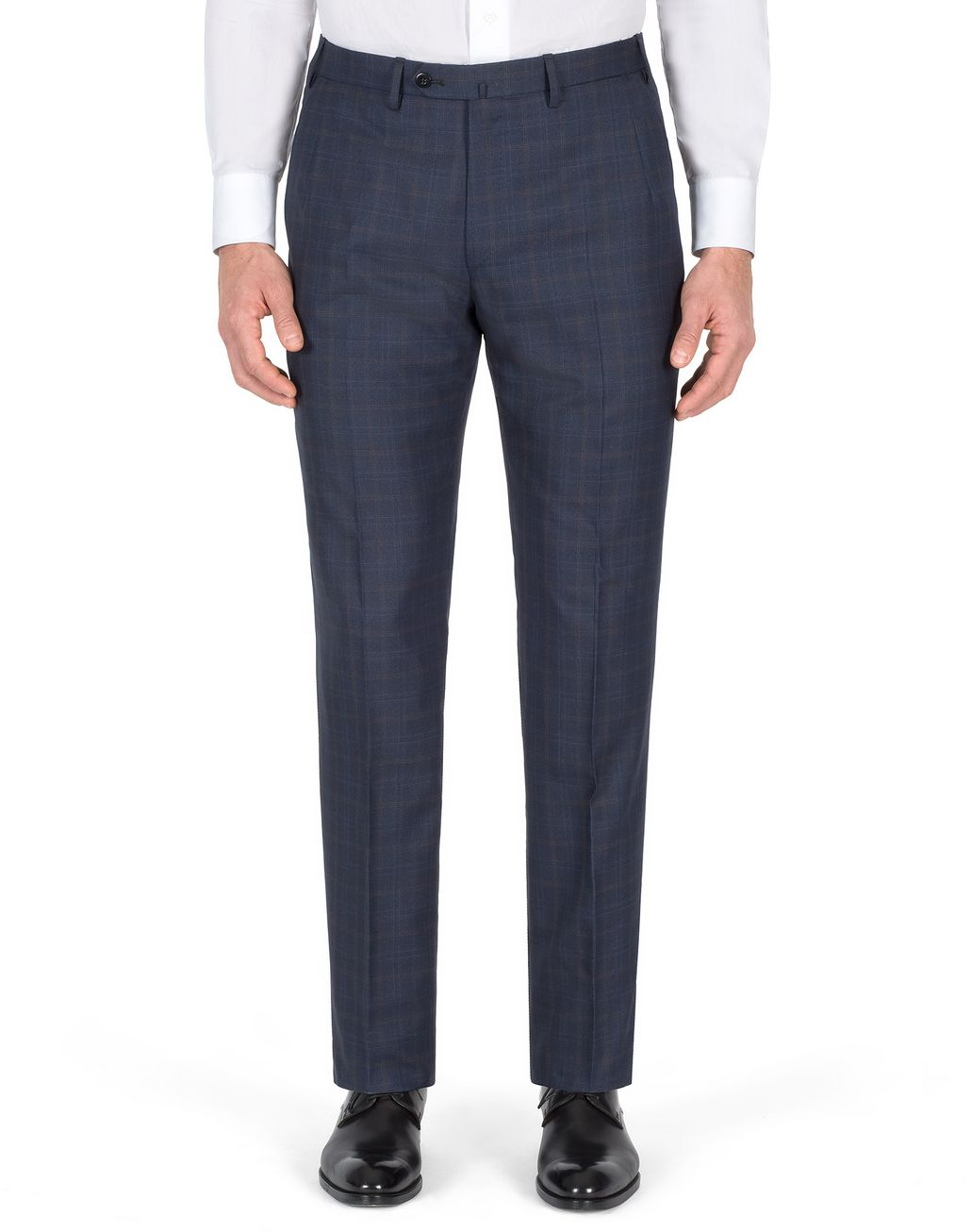 BRIONI Navy-Blue Subtle Check Brunico Suit Suits & Jackets U e