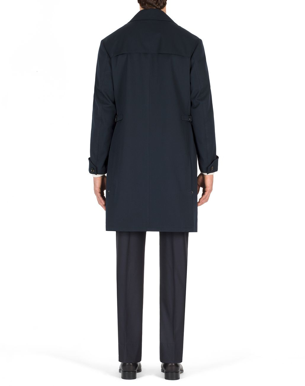 BRIONI Navy Blue Heritage Coat Outerwear Man d