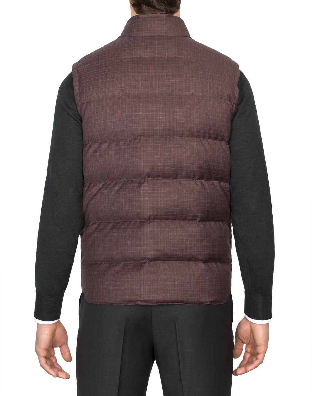 BRIONI Bordeaux Light Weight Vest Outerwear Man d