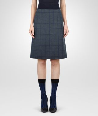 DARK NAVY CASHMERE SKIRT