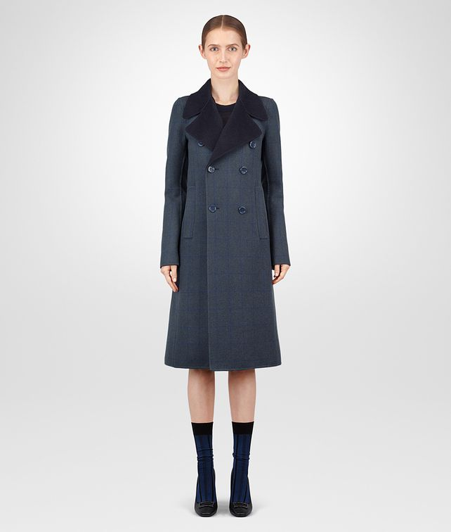 BOTTEGA VENETA DENIM CASHMERE COAT Outerwear and Jacket Woman fp