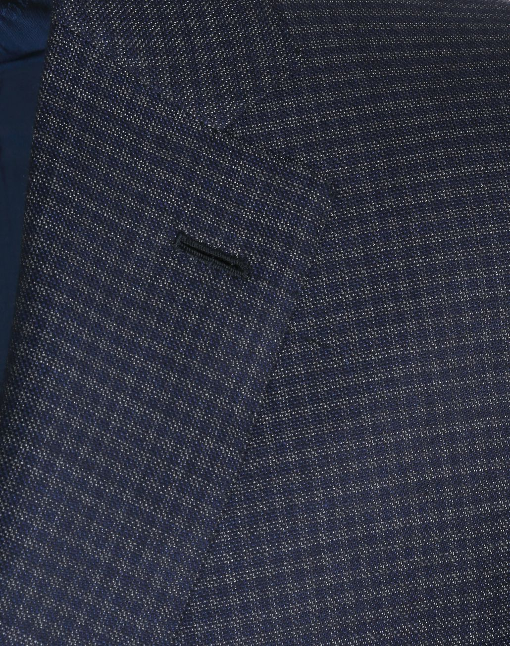 BRIONI Blue and Gray Micro-Check Ventiquattro Ravello Jacket Suits & Jackets Man e