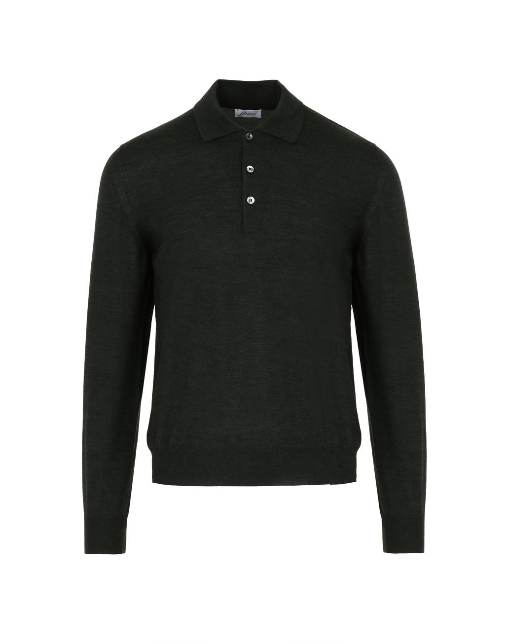 BRIONI Thyme Green Long-Sleeve Polo Shirt T-Shirts & Polos [*** pickupInStoreShippingNotGuaranteed_info ***] f