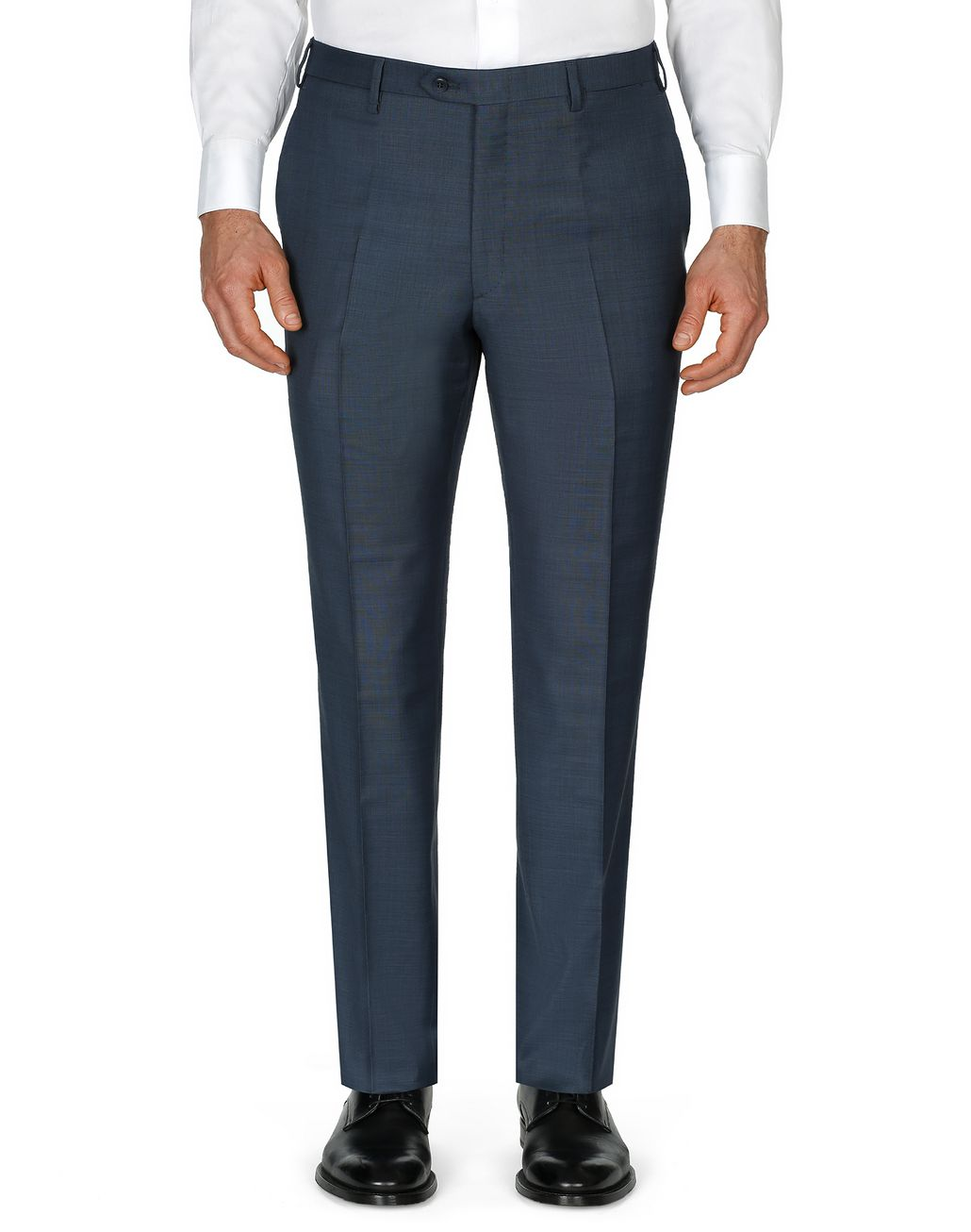 BRIONI Navy Blue Tigullio Trousers Trousers [*** pickupInStoreShippingNotGuaranteed_info ***] r