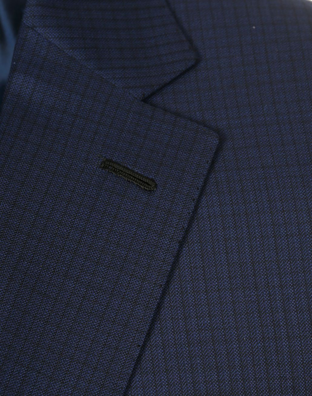 BRIONI Navy Blue Micro-Check Herringbone Ventiquattro Brunico Suit Suits & Jackets [*** pickupInStoreShippingNotGuaranteed_info ***] a