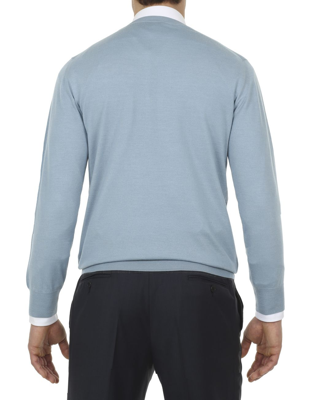 BRIONI Nile Blue Sweater Knitwear [*** pickupInStoreShippingNotGuaranteed_info ***] d